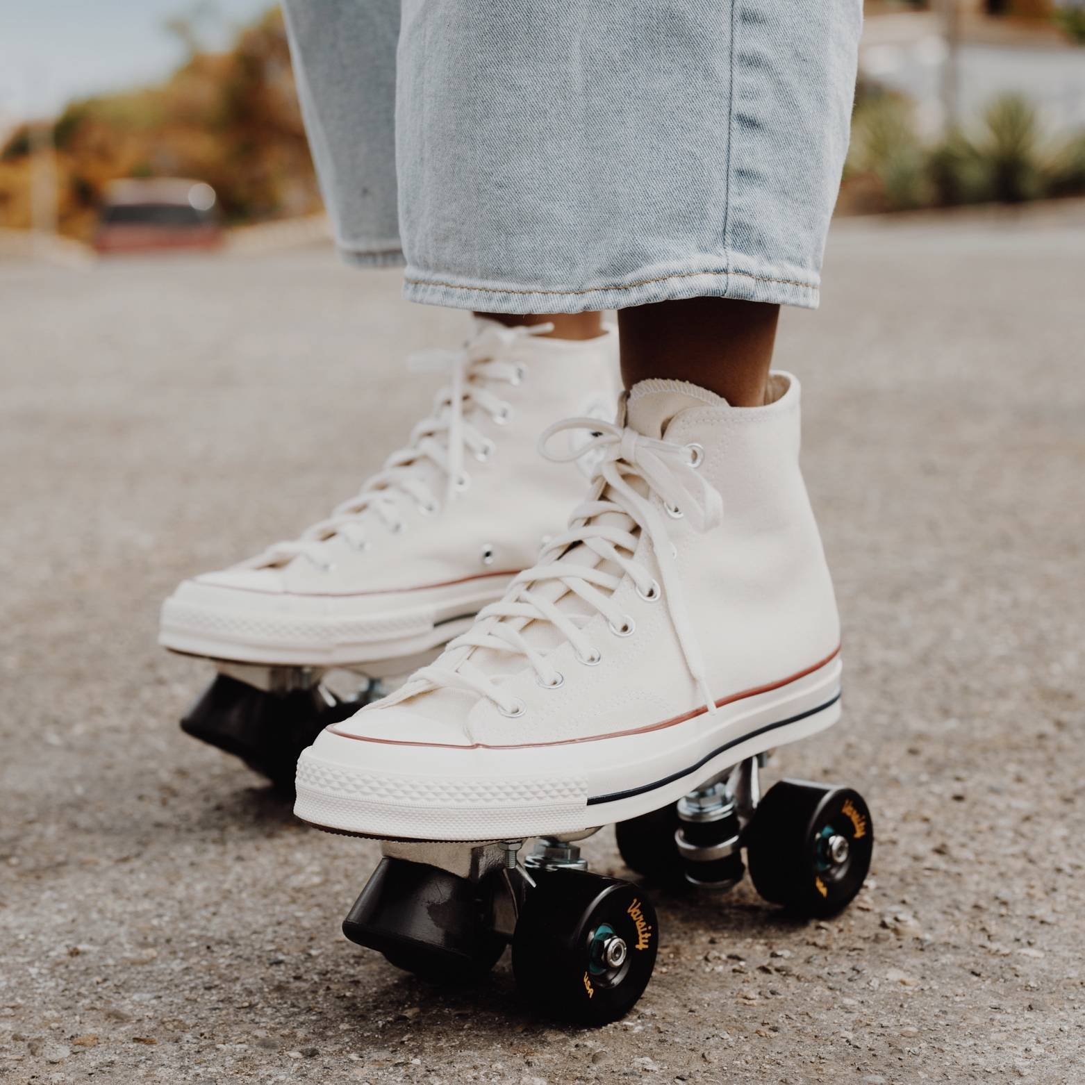 white converse roller skates