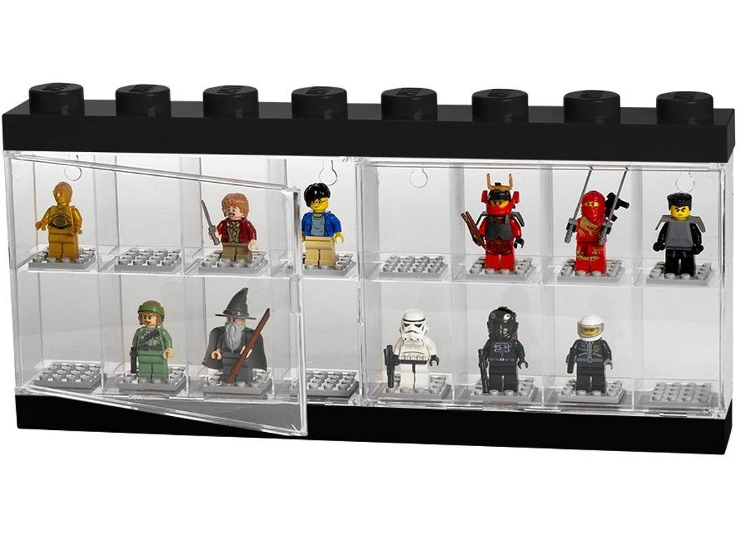 Lego Display Minifigure Case 16 Large, Black