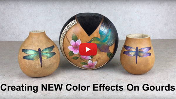 Watch Video #1- Creating New Color Effects on Gourds