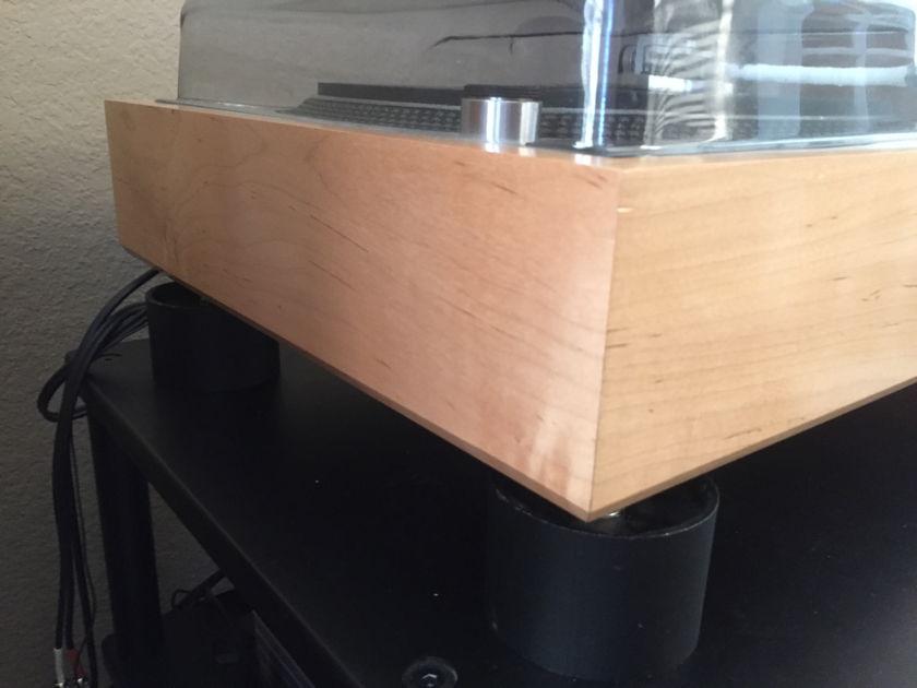 Technics 1200 series light wood color drop in plinth