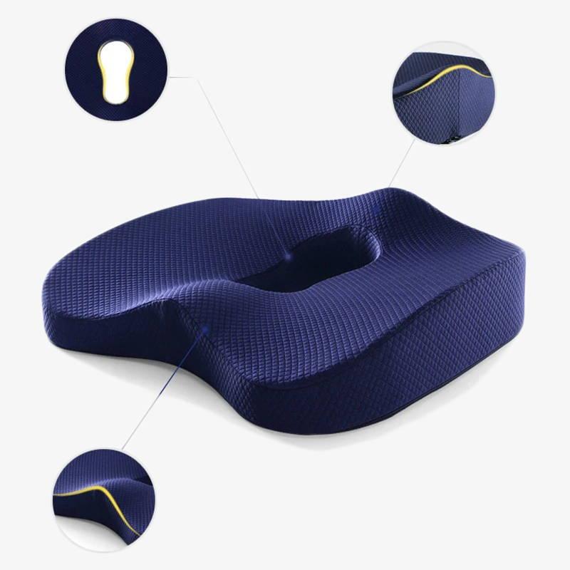 Coussin d'assise orthopédique en mousse à moire de forme