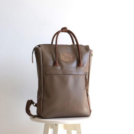 Кожаный рюкзак-сумка Urban Pack Cacao
