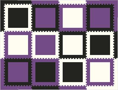 Play Mats Kids Foam Interlocking Floor Tiles SoftTiles - Black and white interlocking floor mats