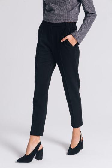 Трикотажные зауженные брюки