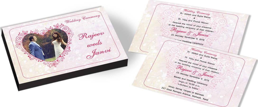 Couple in Heart Invitation for Hearttheme Wedding