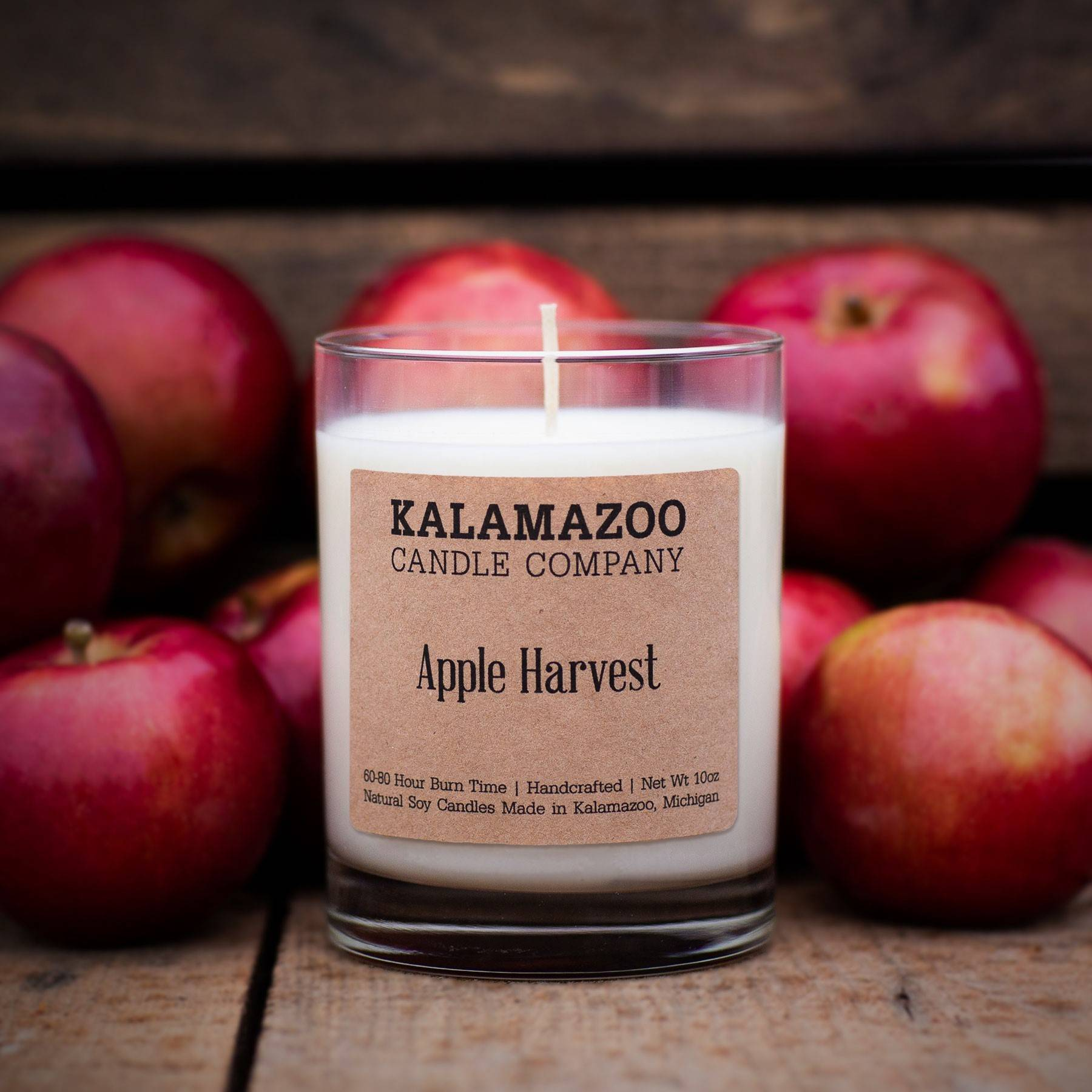 Apple Harvest natural soy wax scented candle