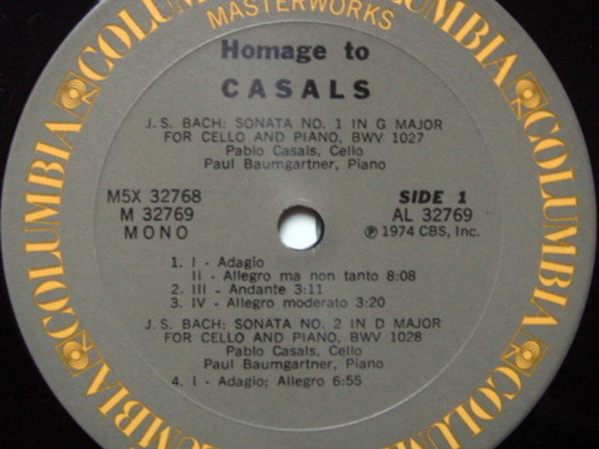 Columbia / PABLO CASALS, - Homage To Pablo Casals, NM, 5 LP Box Set!