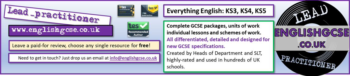 English GCSE and English KS3 resources