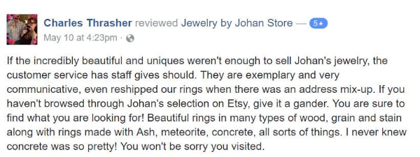 Jewelry by Johan Facebook Review