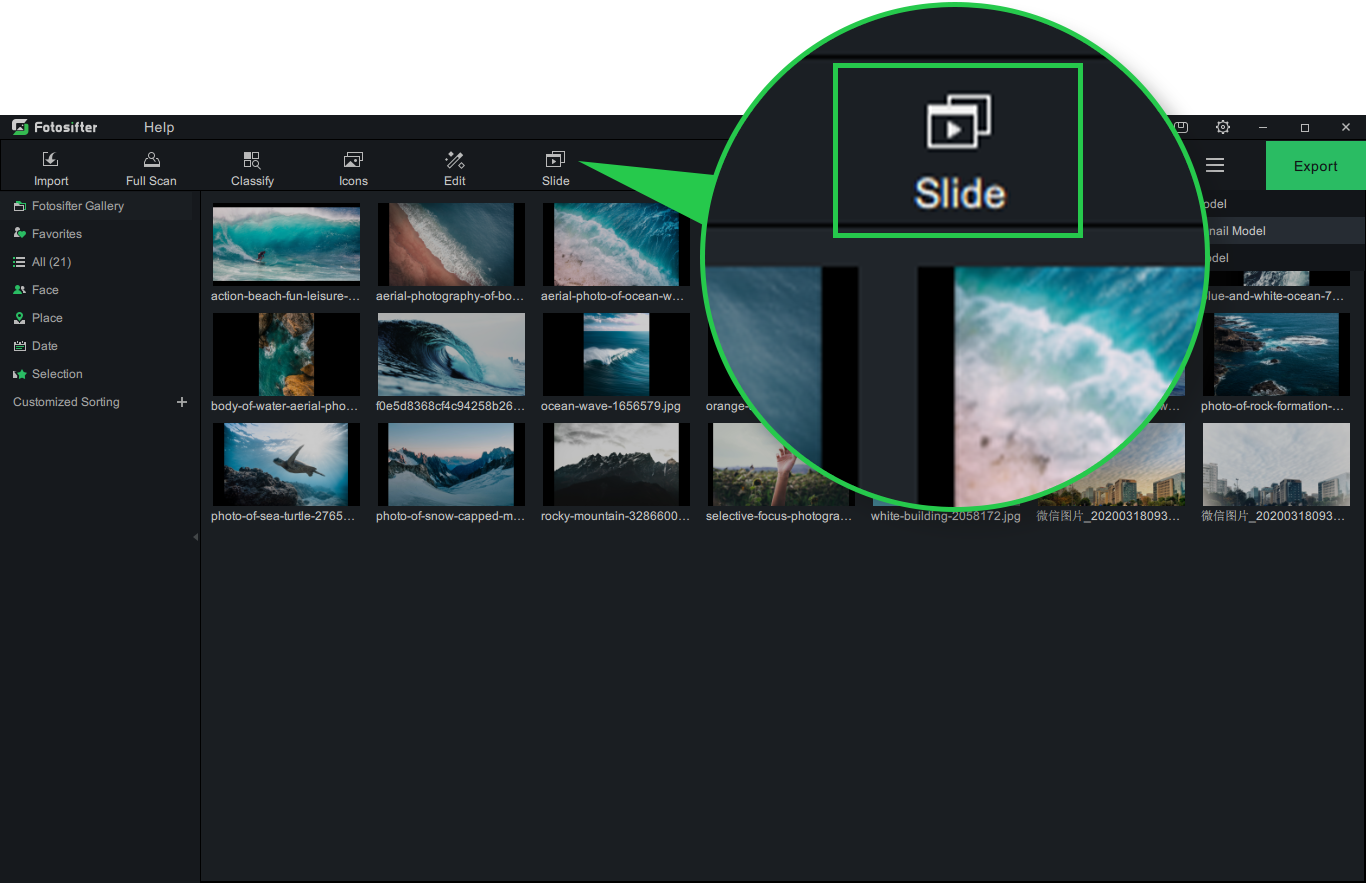 Enter Slideshow Editing Mode