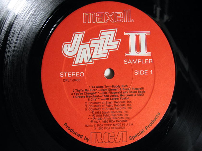 Various Maxell Jazz Artists - The Maxell Jazz II Sampler - 1980  Maxell / RCA Special Products DPL 1-0465