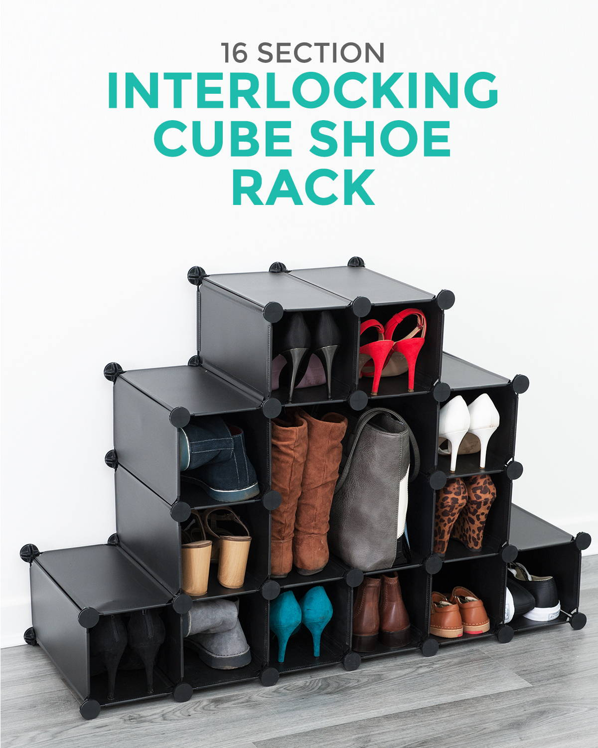 Interlocking Cube Shoe Rack