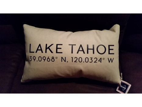 Elizabeth & Marin Lake Tahoe Pillow