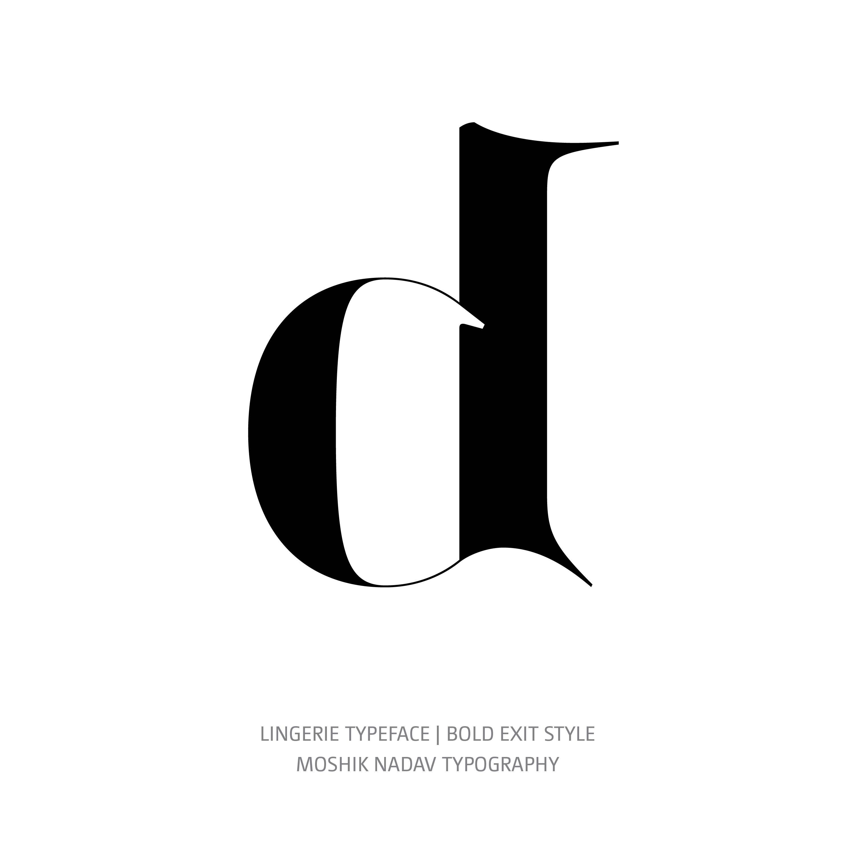 Lingerie Typeface Bold Exit d