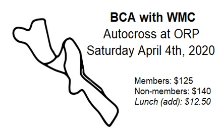 BCA/WMC AX2 - ORP (Autocross on Track)