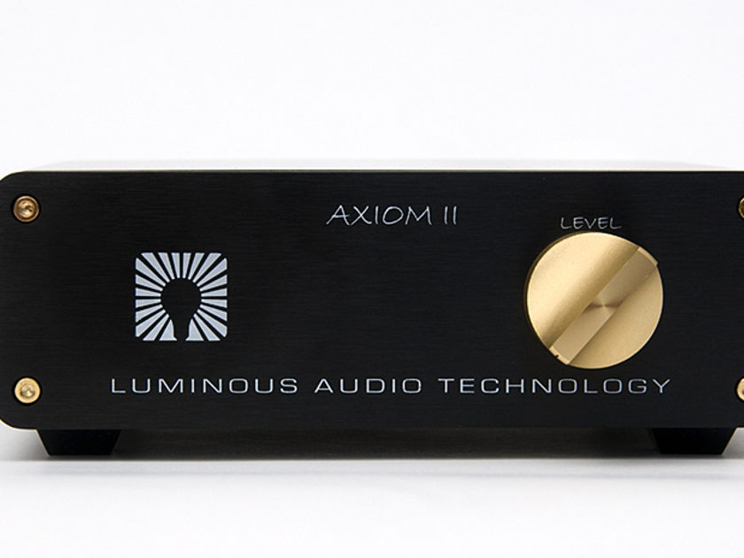 LUMINOUS AUDIO New AXIOM II passive XLR and multi-input now available!