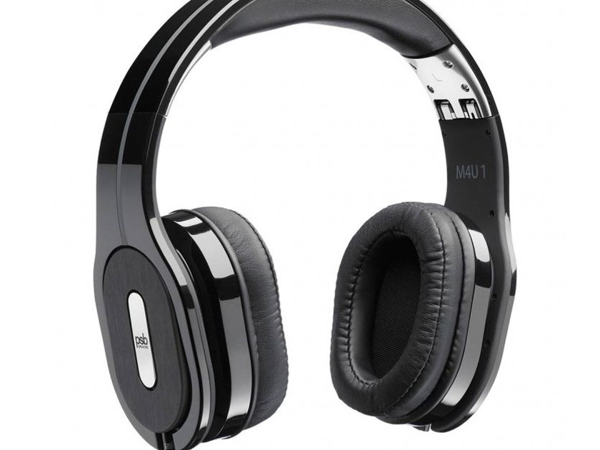 PSB M4U 1 Headphones, Black with Manufacturer's Warranty & Free Shipping