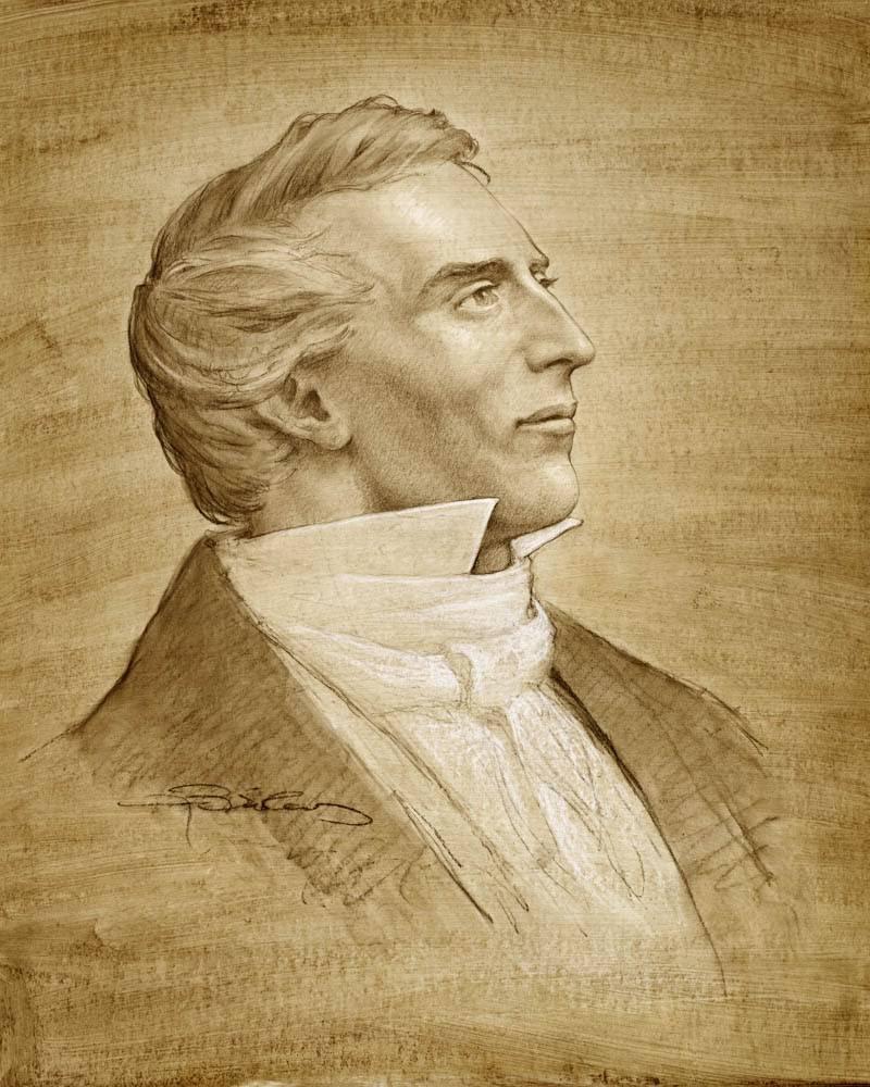 LDS art portrait sketch of Joseph Smith.