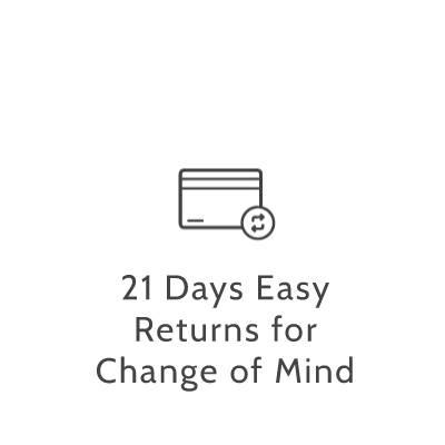 twenty one days easy returns for change of mind