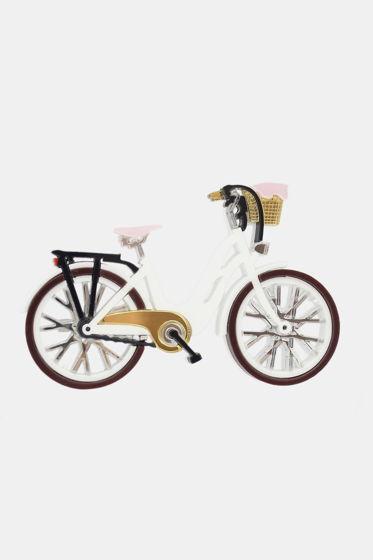 """Брошь """"Велосипед"""" белый"""