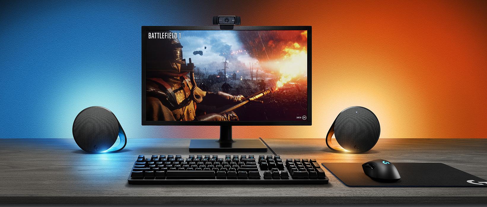 Új PC Gaming hangszóró és LIGHTSYNC-kel kiegészített mechanikus billentyűzetet a Logitechtől