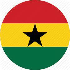 ghana flag round