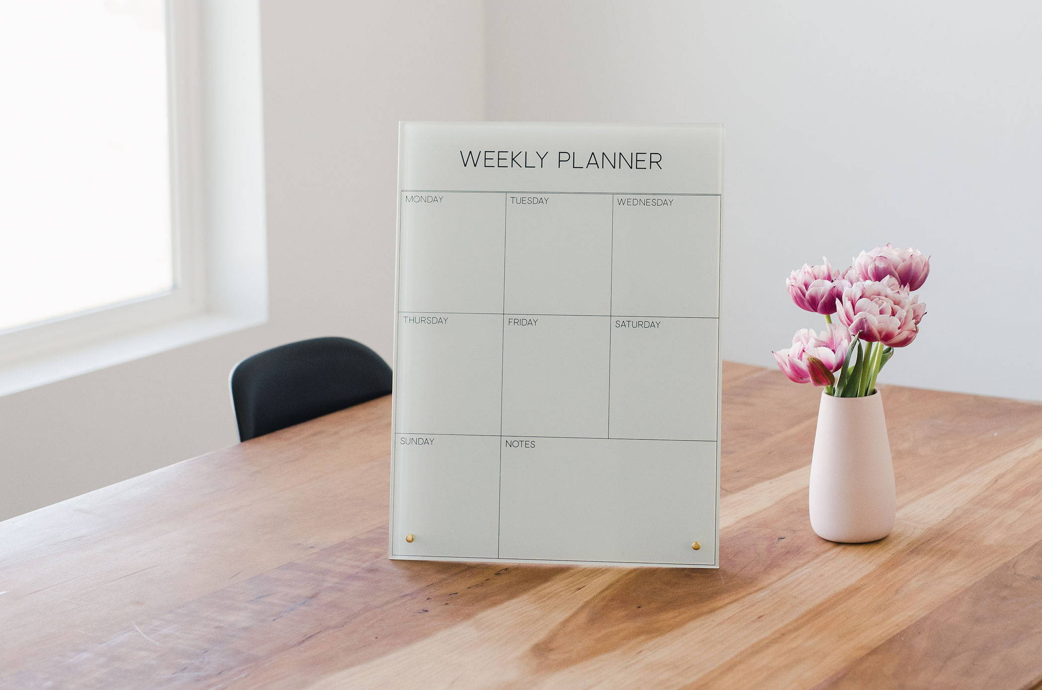 weekly planner glass magnetic dry erase board