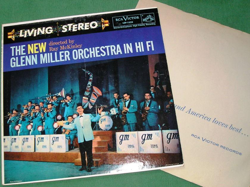 "THE NEW GLENN MILLER ORCHESTRA IN HI-FI - ** RCA 1958 BLACK DOG - 1S/A1 & 1S/A1 ""I"" PRESS ** NM 9/10"