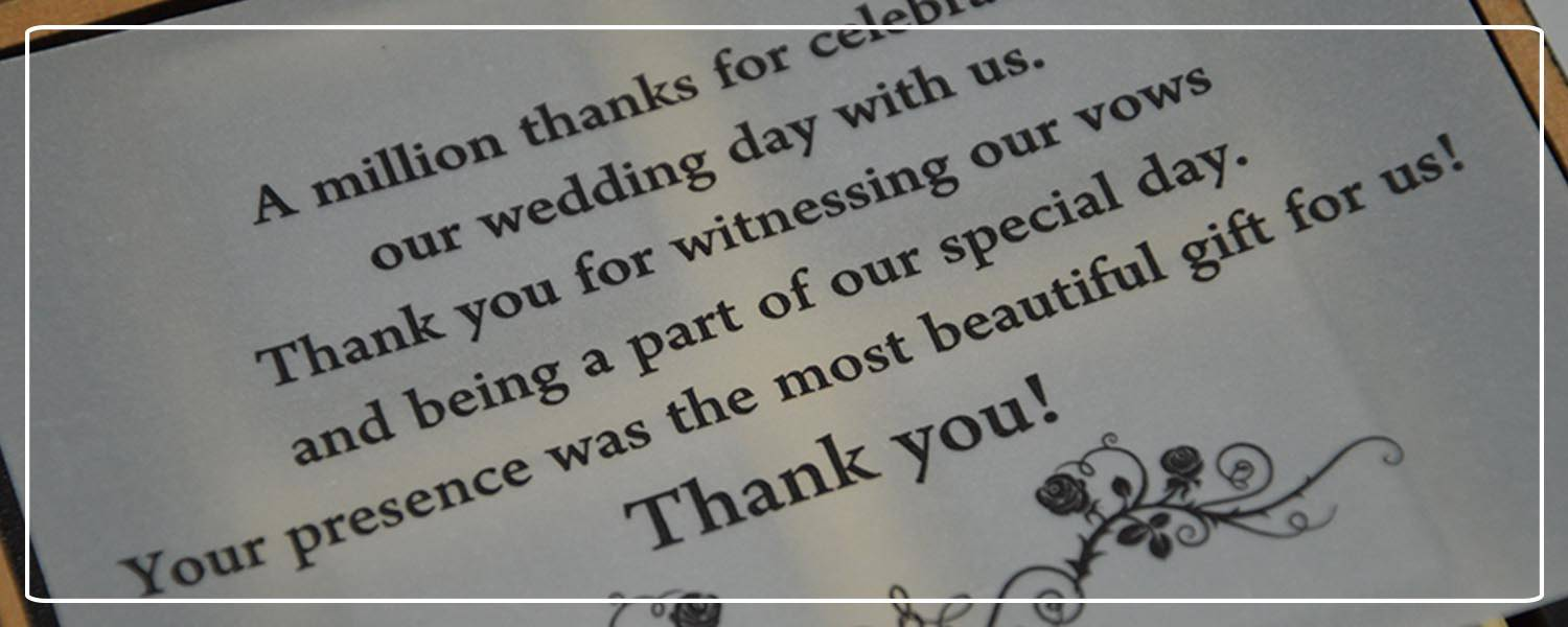 Thank you message for your wedding guests