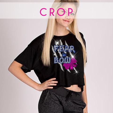 glitterstarz bling basics crop top black rhinestone teamwear cheer dance