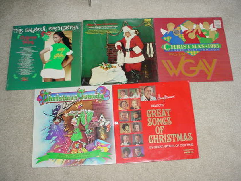 christmas music - lot of 5 sealed lp records