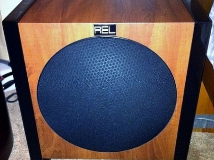"""REL Acoustics T-2 8"""" SUBWOOFER --200W in Cherry"""