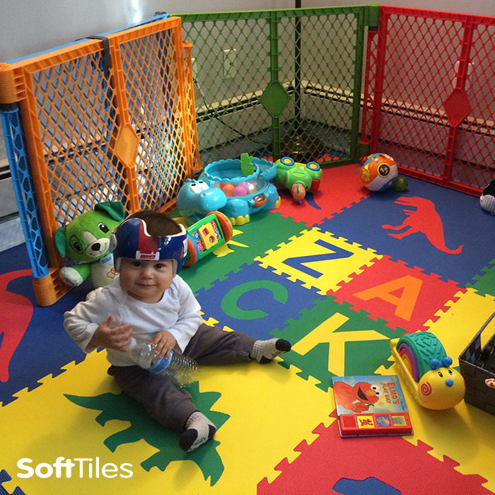 Dinosaur Play Mat Personalized Play Mat Softtiles