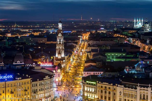 Ночная экскурсия по Казани -