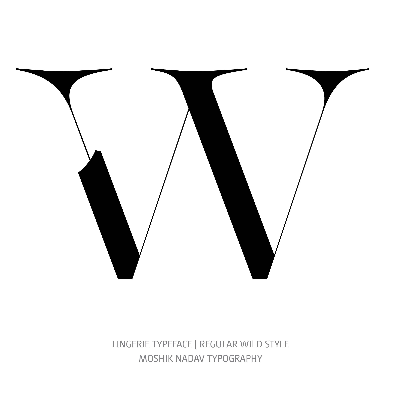 Lingerie Typeface Regular Wild W