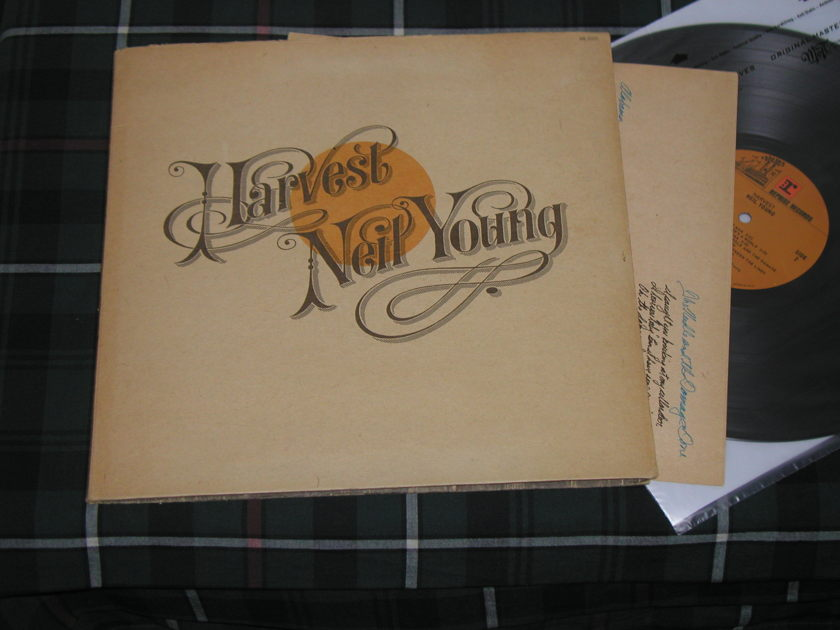"""Neil Young - Harvest (STERLING Orig) With """"soft paper"""" cover."""