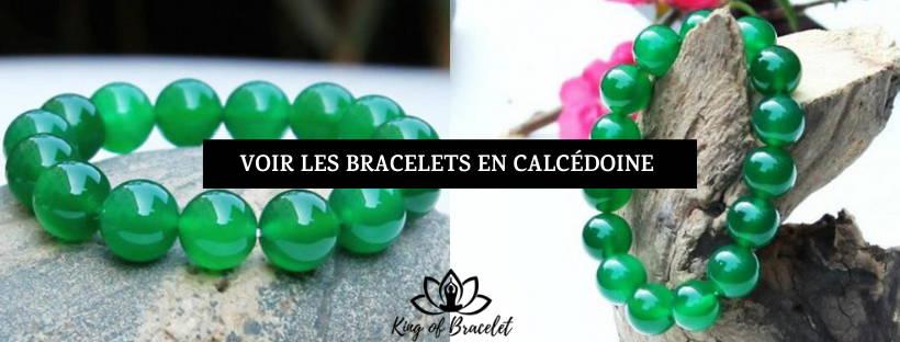 Bracelet Calcédoine Verte - King of Bracelet