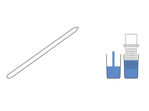 Schema of a nomad tester and a sampling stick
