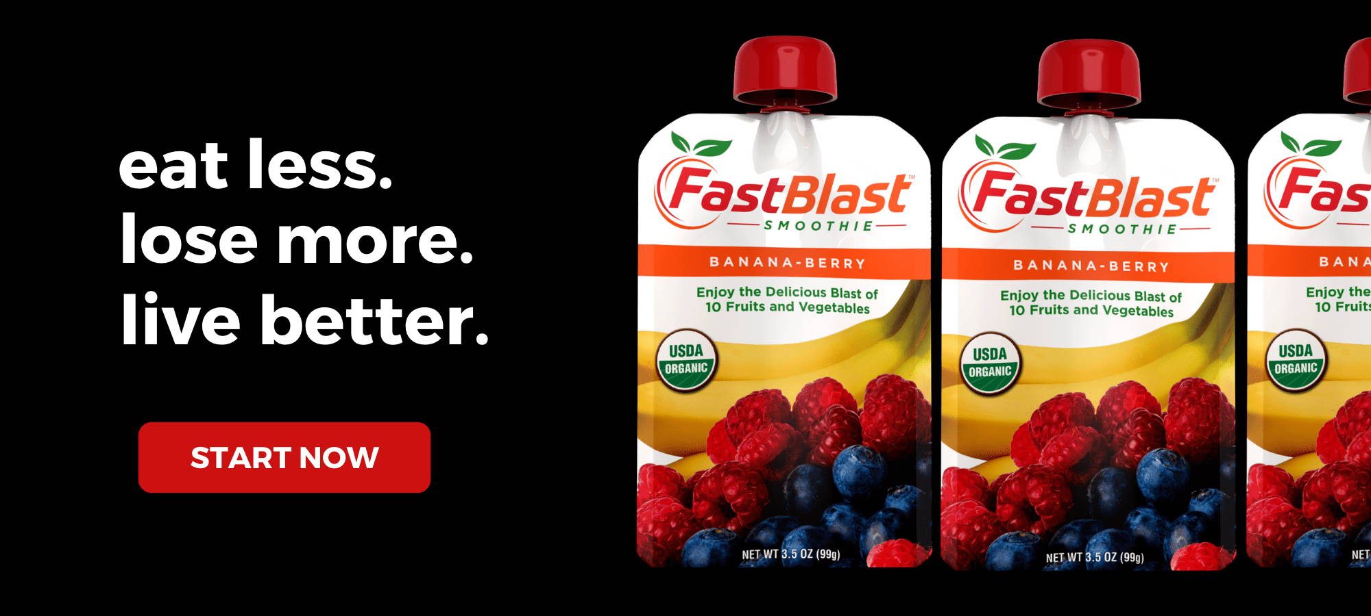 eat less lose more live better fastblast smoothies