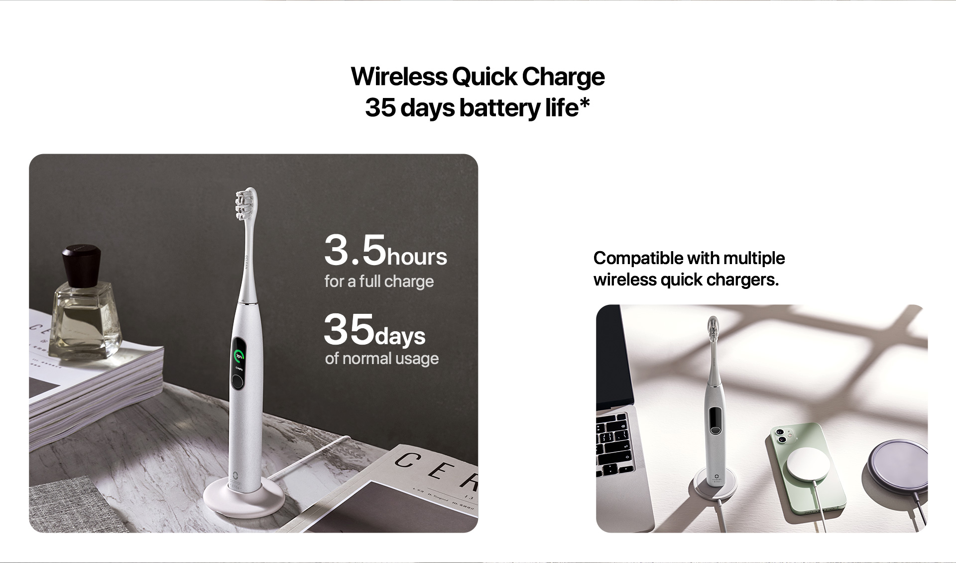 wireless Quick charge 35 days battery life