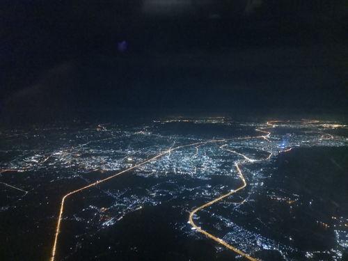 バンコクの夜空