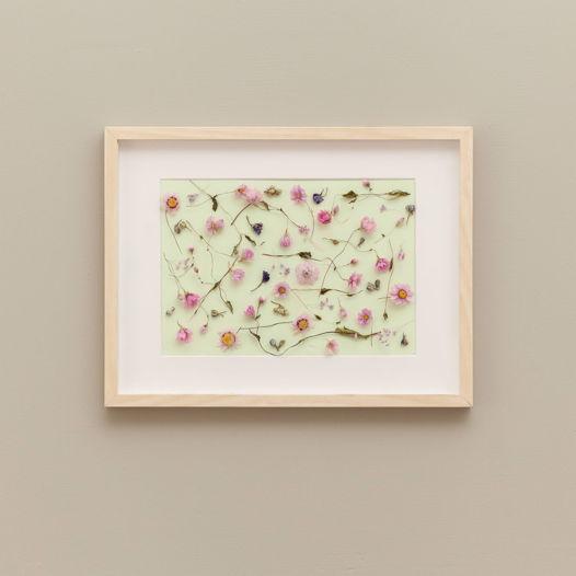 Панно-микс с розовыми сухоцветами