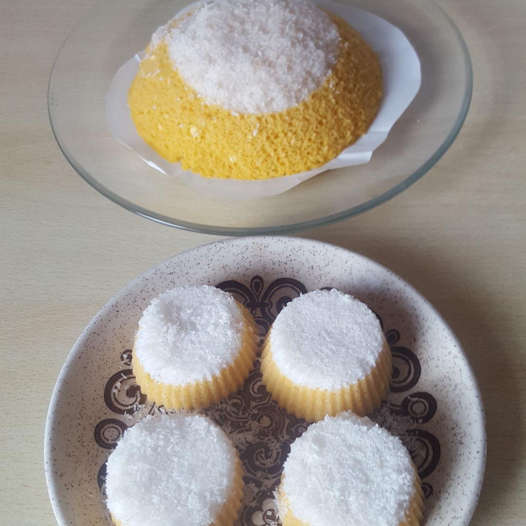 Steam sweet potatoe cakes