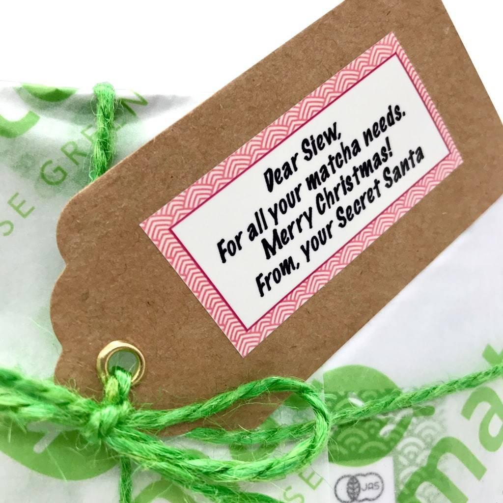 Personalised gift tag matcha gift set
