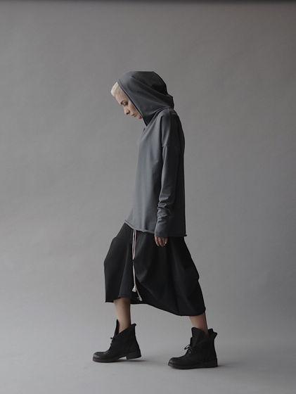 Асимметричная юбка из хлопка
