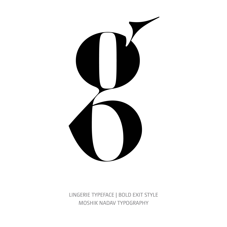 Lingerie Typeface Bold Exit g
