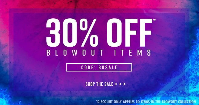 30% off blow out items