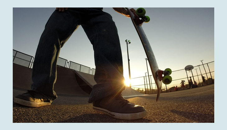 open airea skate area