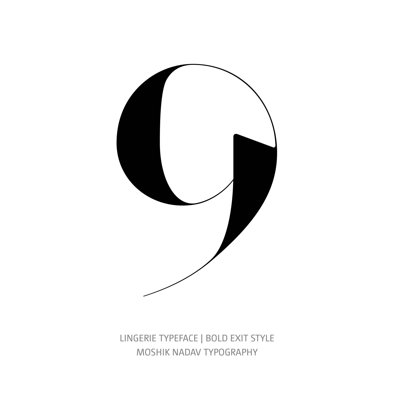 Lingerie Typeface Bold Exit 9