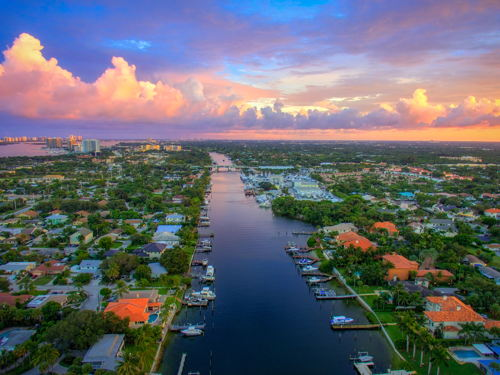 skyview of Palm Beach Gardens